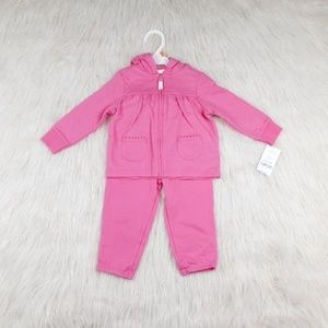 Carter's 12M Girl Jacket and Pants Pink.